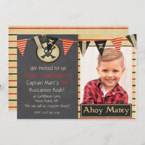 Pirate Kids Birthday Party Invitation