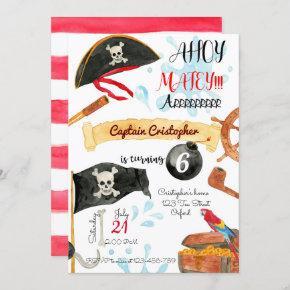 Pirates Birthday Invitation, Pirates Invitation