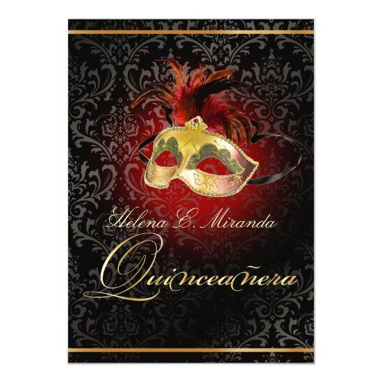 Pixdezines Masquerade Ball Rossi Damask Diy Invitations Candied Clouds
