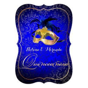 PixDezines Masquerade/Blue/DIYcolor! Invitation