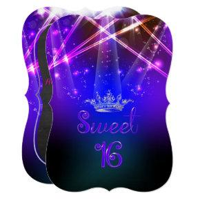 PixDezines Sweet 16, Laser Lights/Neon Lights Invitation