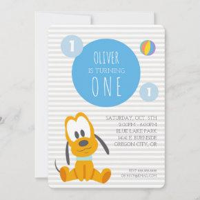 Pluto   First Birthday Invitation