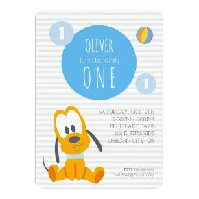 Pluto | First Birthday Invitations