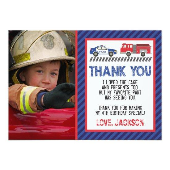 Police and Fire Thank You  with Photo