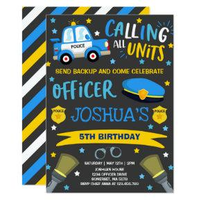 Police Birthday Invitation Police Officer Party