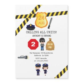 Police Birthday Party Magnetic Invitation