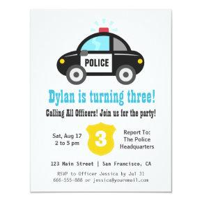 Police Car Boys Birthday Party
