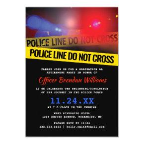 Police Law Enforcement Party Invitation