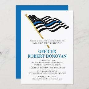 Police Law Enforcement | Thin Blue Line Invitation