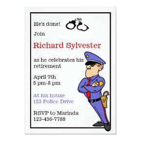 Police Retirement Party Invitation