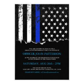 Police Style American Flag Party|Event Invitations