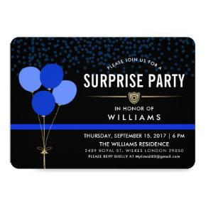 Police Surprise Party Invitations