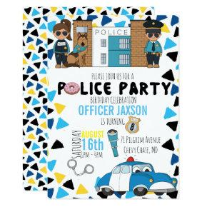 Police Themed Party Invitation