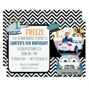 Police Themed Party Invitations - Photo Invite