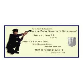 Policeman Custom Retirement Party Invitations