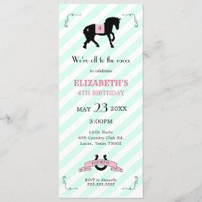 Pony Birthday Invitation