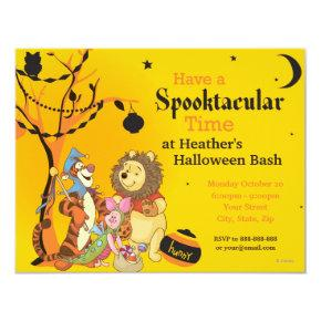 Pooh and Pals Halloween Party Invitation