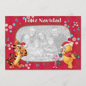 Pooh & Friends: Feliz Navidad Greeting Invitations
