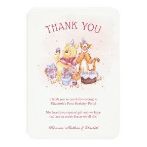Pooh & Friends Watercolor |  Birthday Thank You Invitation