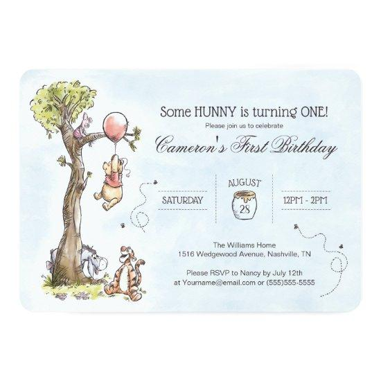 Pooh & Friends Watercolor Tree | First Birthday