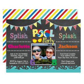 Pool Party Birthday Invitation | Joint Birthday