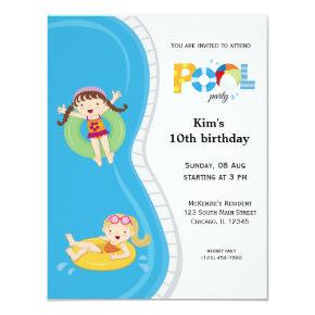 Pool Party (girl) Invitations