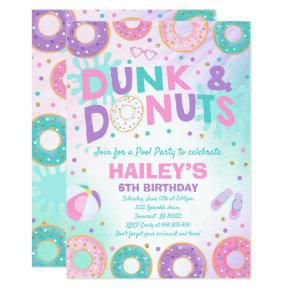 Pool Party Invitation Dunk And Donuts Pool Party