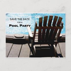 Pool Party Save The Date Invitation Post
