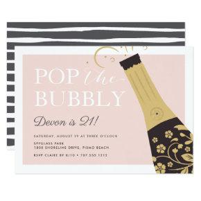 Pop the Bubbly | Birthday Party Invitation