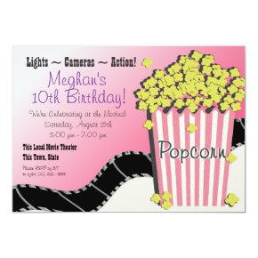 Popcorn and a Movie Invitation