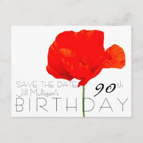 POPPY Collection 90th Birthday Save the Date Announcement Post