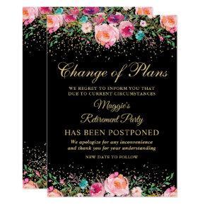 Postponed Announcement Floral Retirement Party