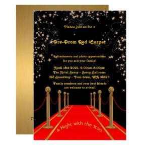 Pre-Prom Invitations, Pre Prom,Red-Carpet,15th,16th Invitations