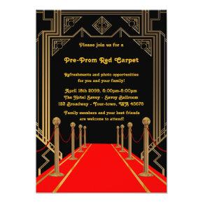 Pre-Prom invitation, Pre Prom,Red-Carpet,15th,16th Invitation