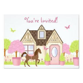 Pretty Garden Horse Birthday Party