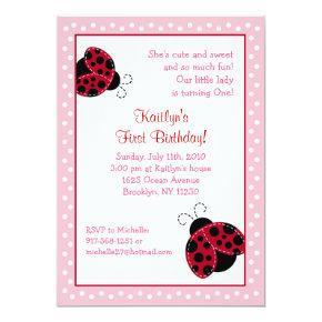 Pretty in Pink Ladybug Birthday