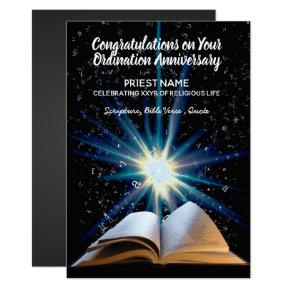 Priest Ordination Anniversary - ANY YEARS Ordained Invitations