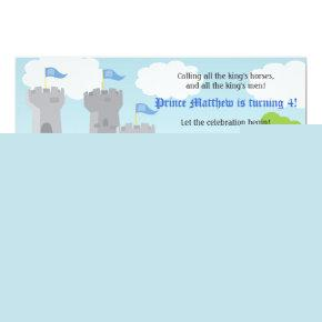 Prince and Knight Kids Birthday Party Invitations