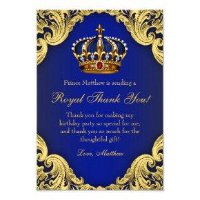 Prince Birthday Party Thank You Cards Royal Crown