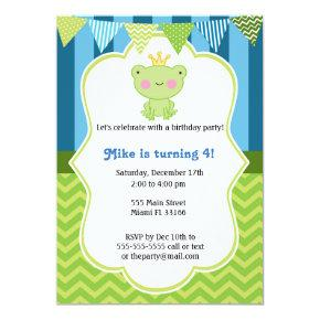 Prince Frog Birthday Invitation