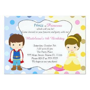Prince Princess Invitations Kids Birhday Party