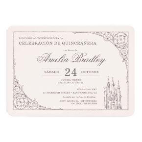 Princesa Castillo De Cuento De Hadas Quinceañera Invitation