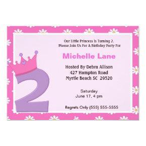 Princess 2nd Birthday Invitations