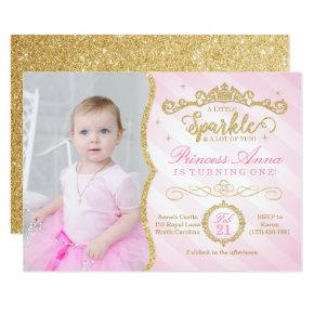 Princess Birthday Invitation Pink & Gold
