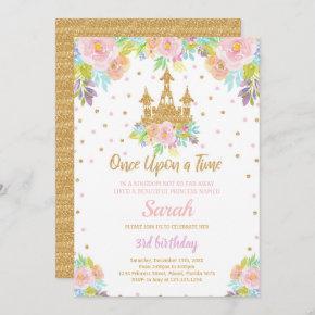 Princess Birthday Invitation, Princess Invitation