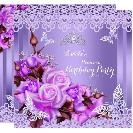 Princess Butterfly Purple Pink Rose Birthday Party
