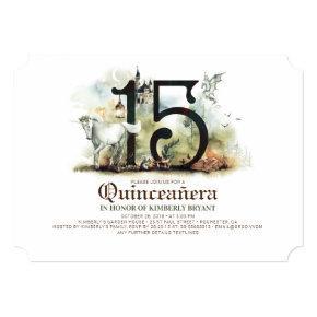 Princess Castle 15th Birthday Quinceañera Invitation