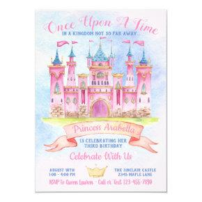 Princess Castle Any Number Princess Birthday Party Invitation