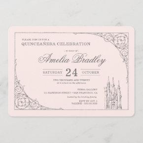 Princess Castle | Fairy Tale Quinceañera Invitation