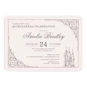 Princess Castle | Fairy Tale Quinceañera Invitation